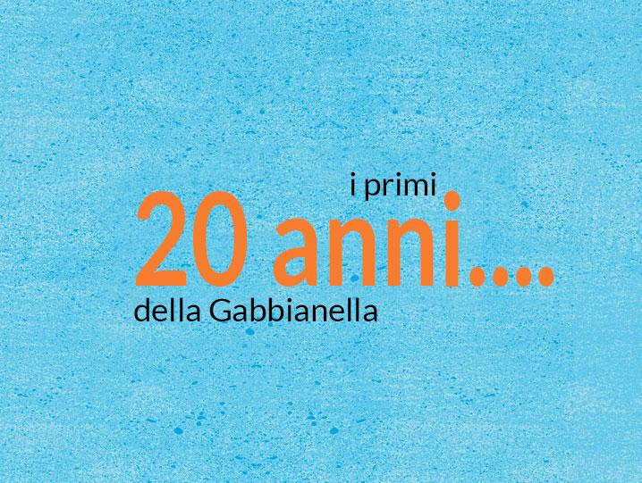 i primi 20 anni de La Gabbianella