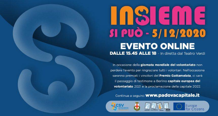 Padova Capitale europea del volontariato. Il 5 dicembre la cerimonia conclusiva